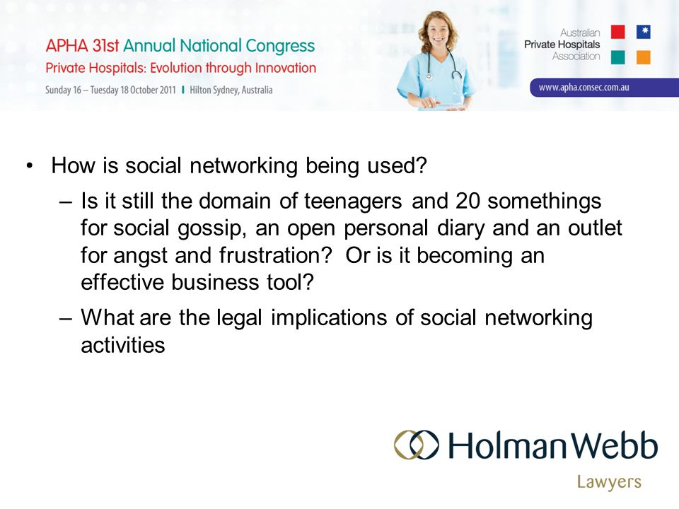 How is social networking being used.