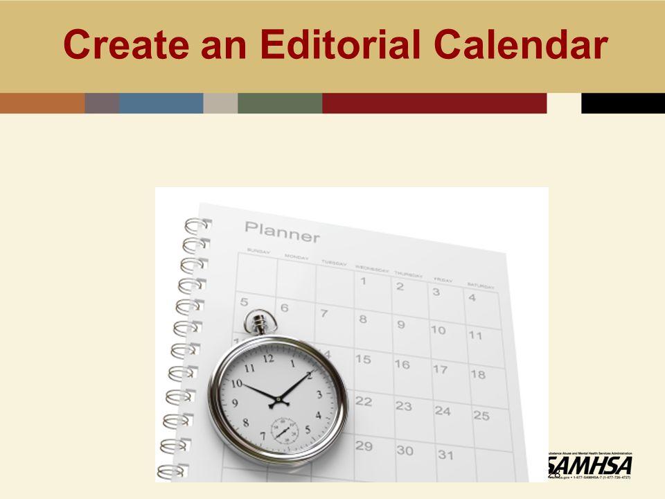 Create an Editorial Calendar 28