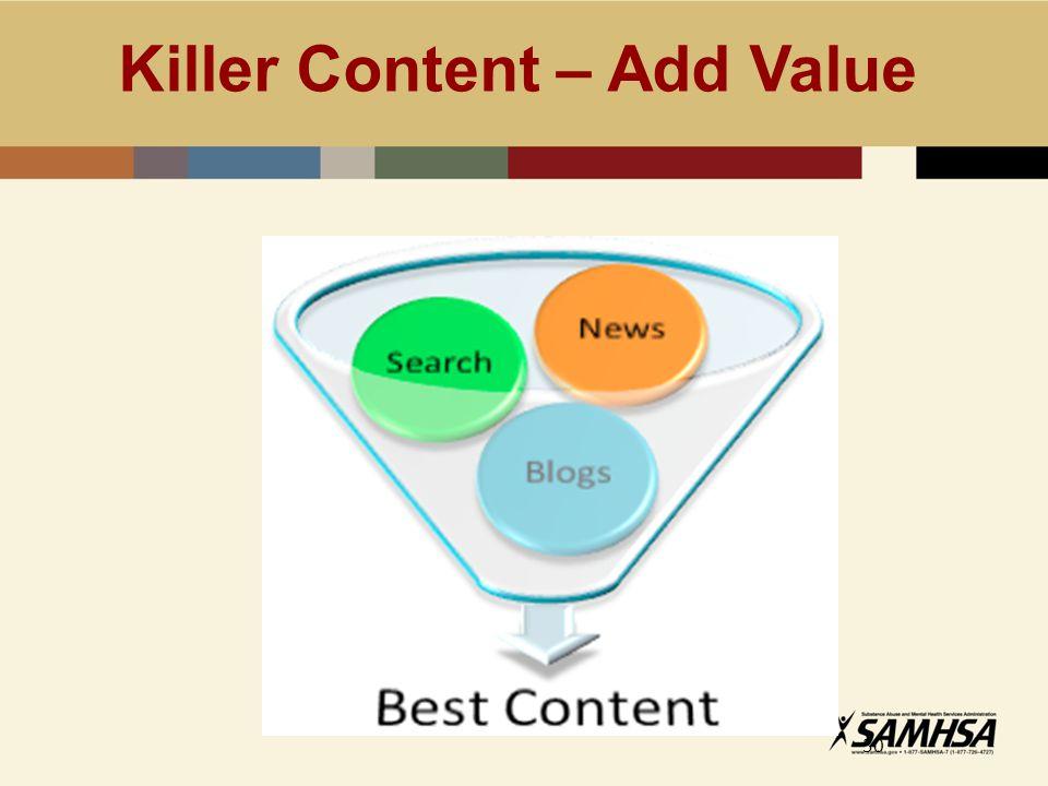 Killer Content – Add Value 30