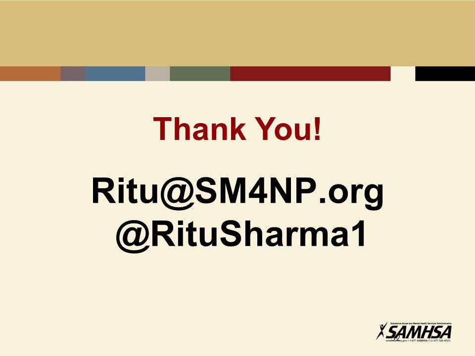 Ritu@SM4NP.org @RituSharma1 32 Thank You!