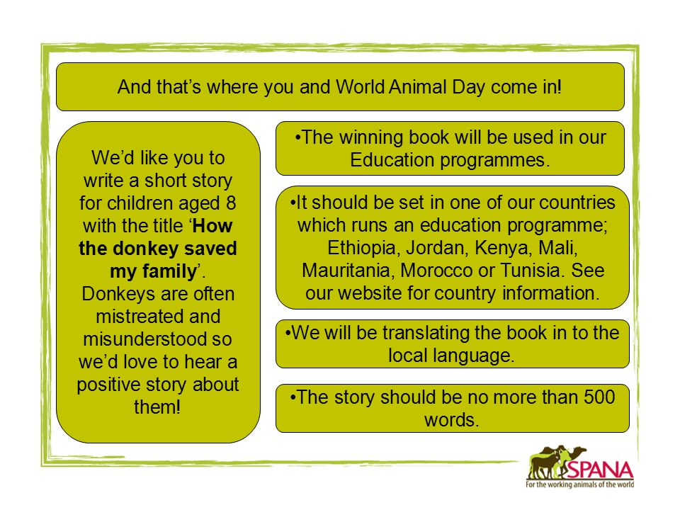 And that's where you and World Animal Day come in.