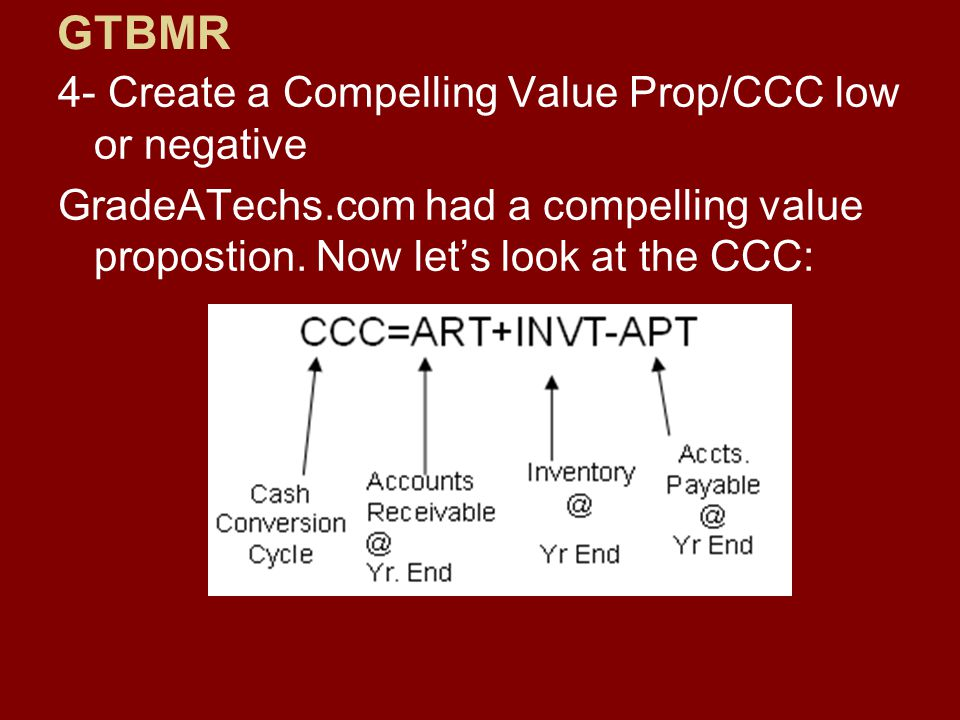 4- Create a Compelling Value Prop/CCC low or negative GradeATechs.com had a compelling value propostion.