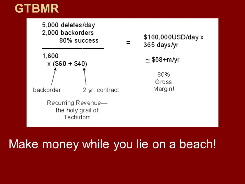 Make money while you lie on a beach!