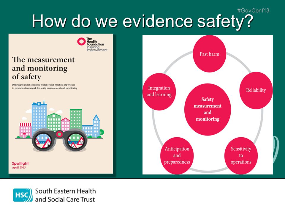#GovConf13 How do we evidence safety?