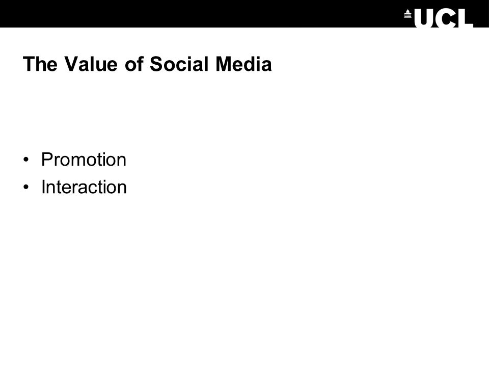 The Value of Social Media Promotion Interaction