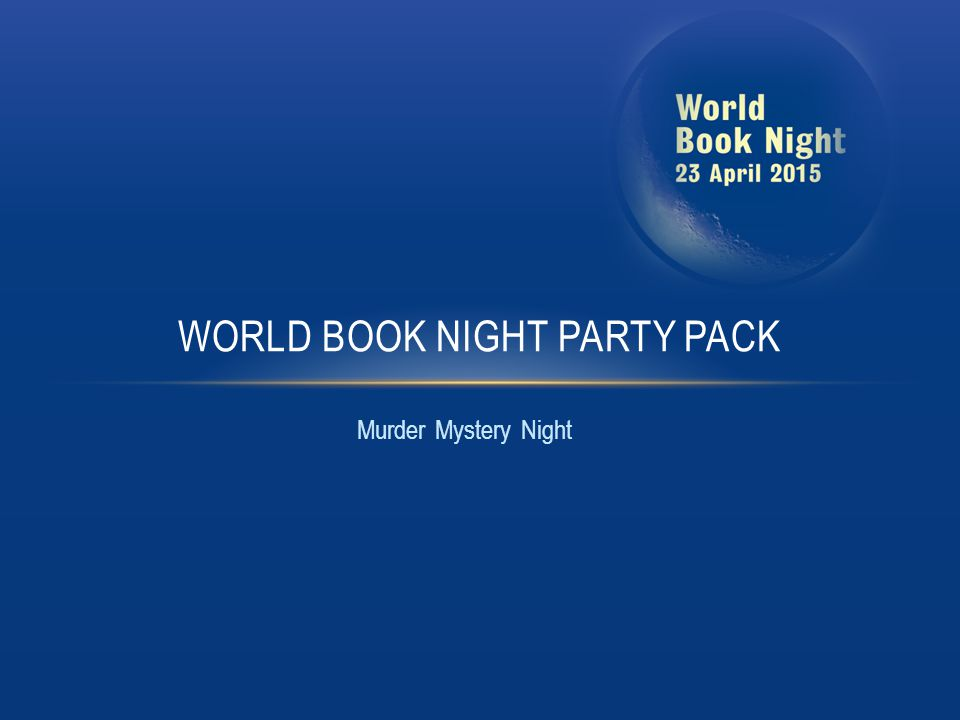 Murder Mystery Night WORLD BOOK NIGHT PARTY PACK