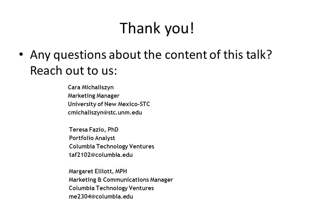Thank you. Any questions about the content of this talk.