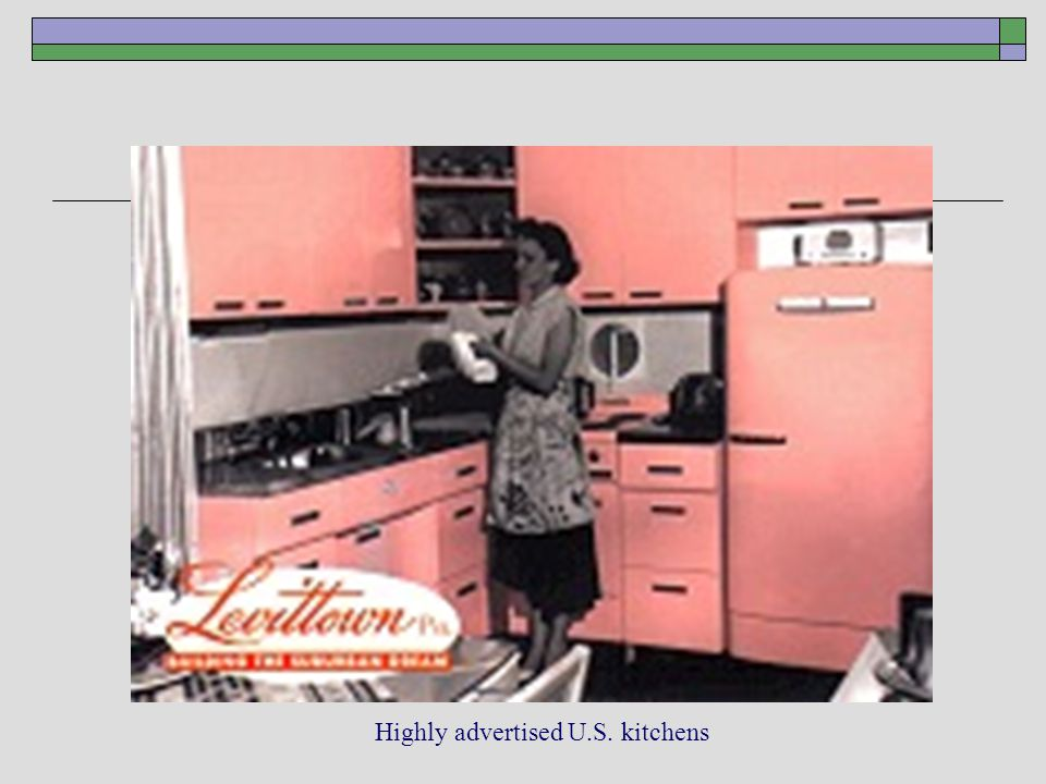Highly advertised U.S. kitchens