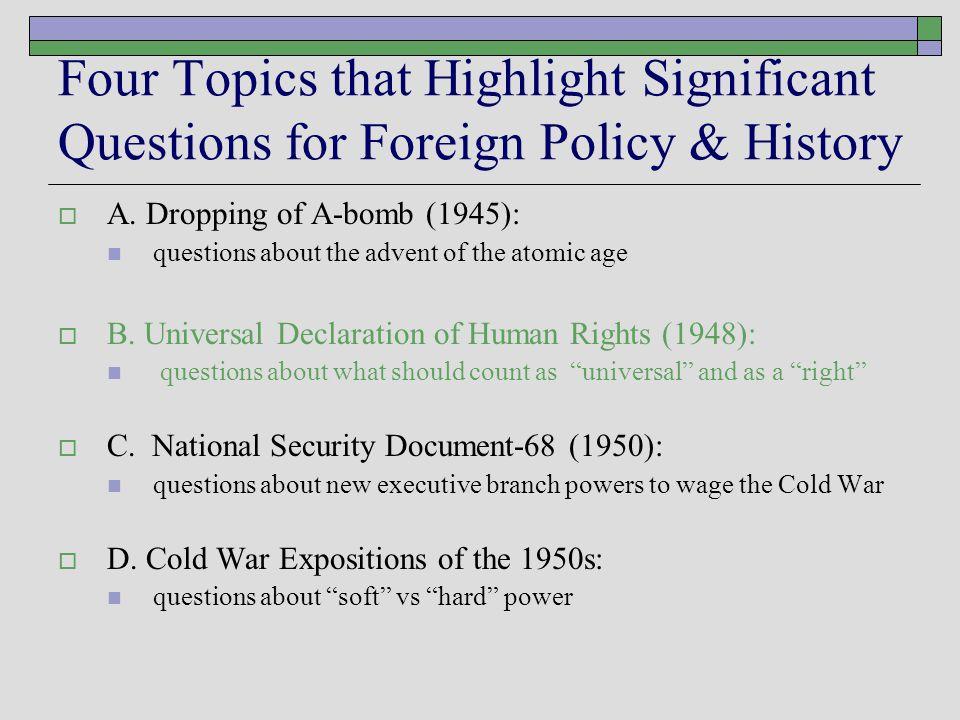 B.Universal Declaration of Human Rights (1948)  1.