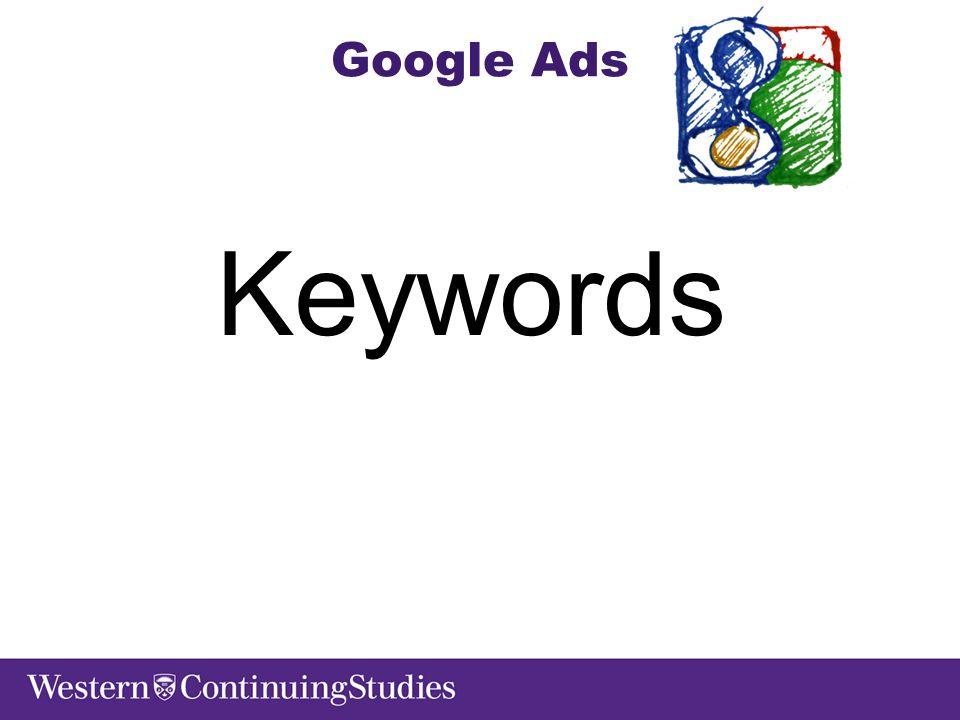 Google Ads Keywords