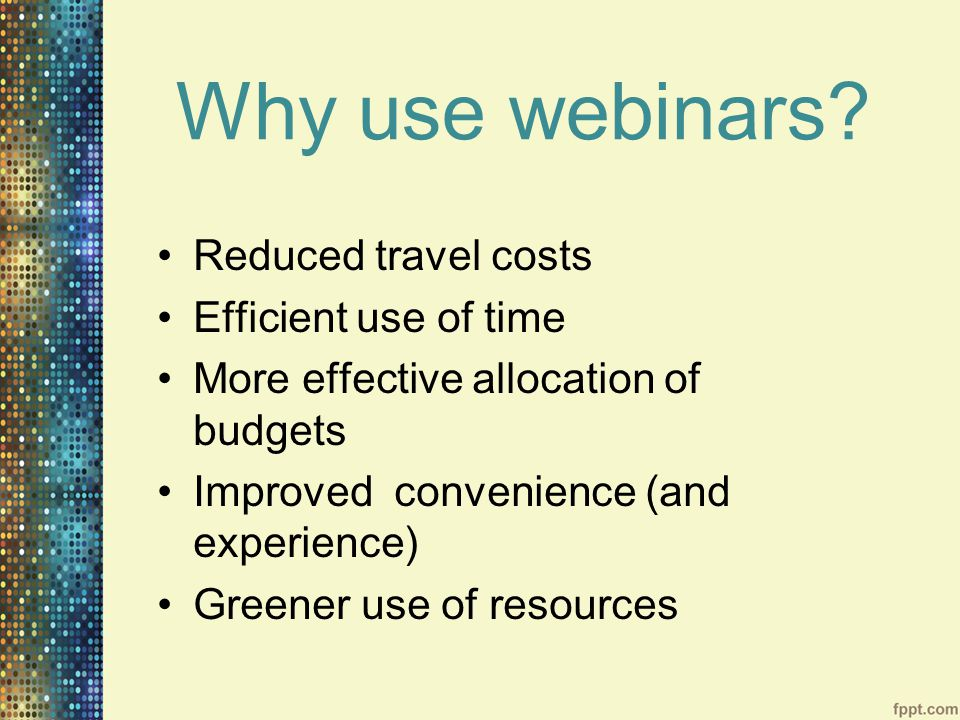 Why use webinars.