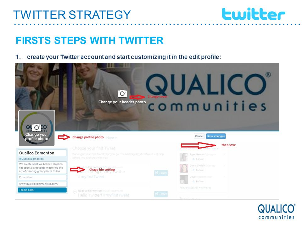 TWITTER STRATEGY ………………………………………………………………………… GENERAL GUIDELINES use hastags words: It is a convention among Twitter users to distinguish content using semantic tags Page (keywords), preceded by a # sign.