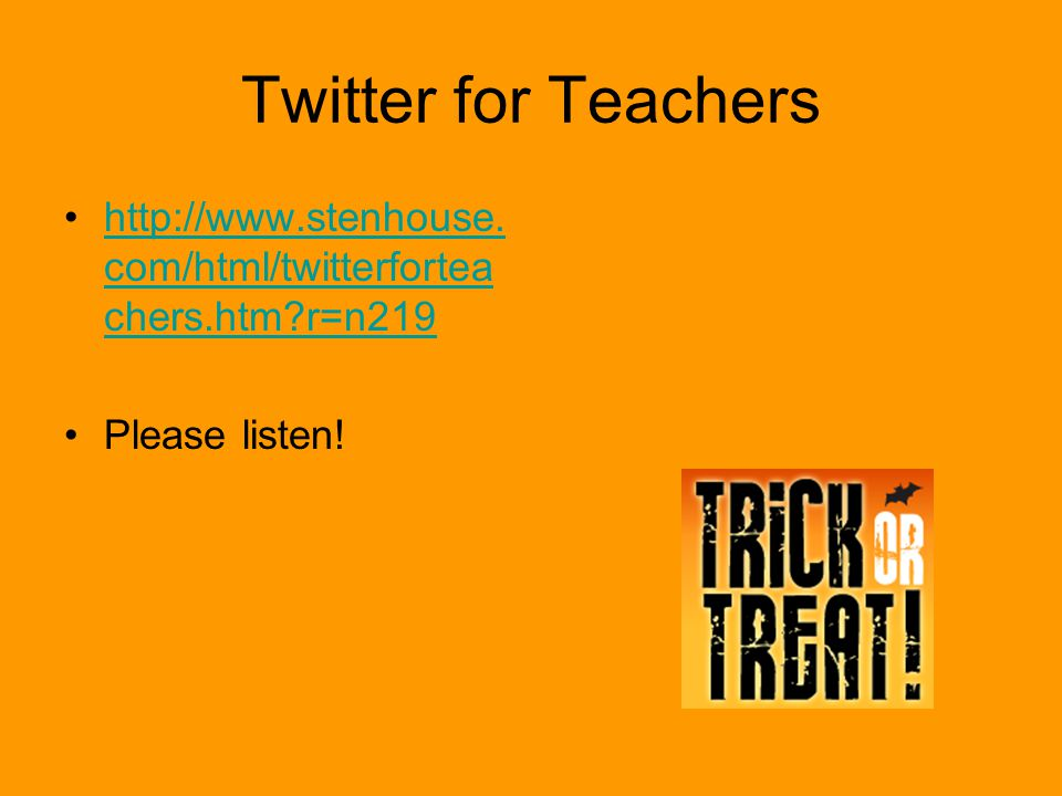 Twitter for Teachers http://www.stenhouse.