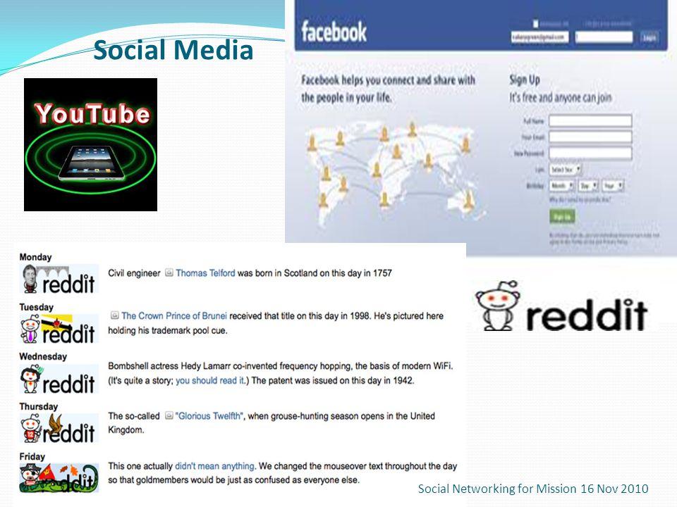 Social Media Social Networking for Mission 16 Nov 2010