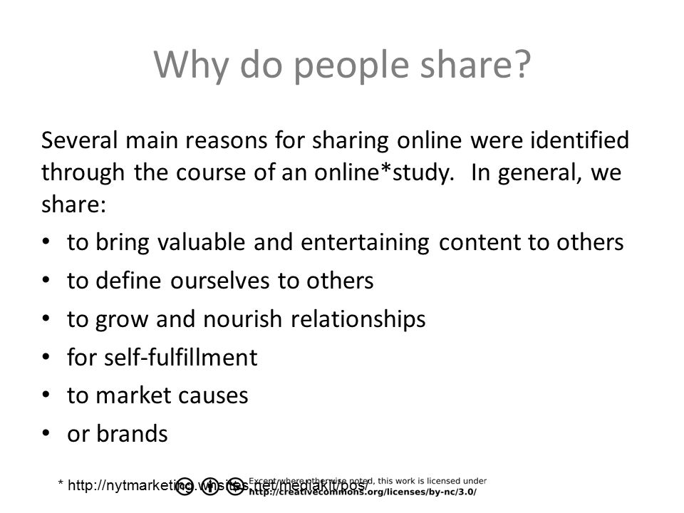 Why do people share.