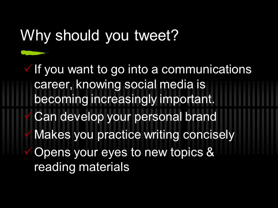 Why should you tweet.