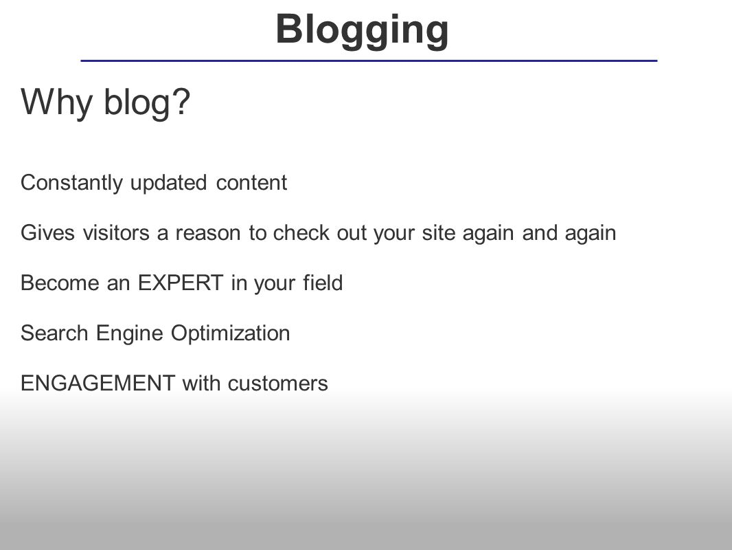 How blog.