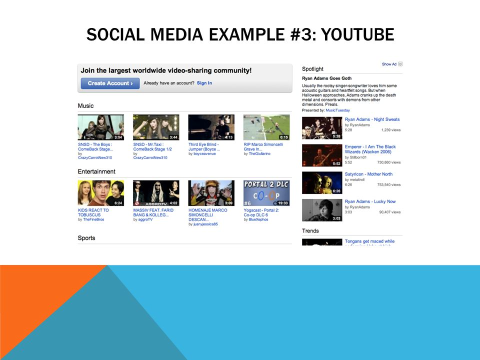 SOCIAL MEDIA EXAMPLE #3: YOUTUBE