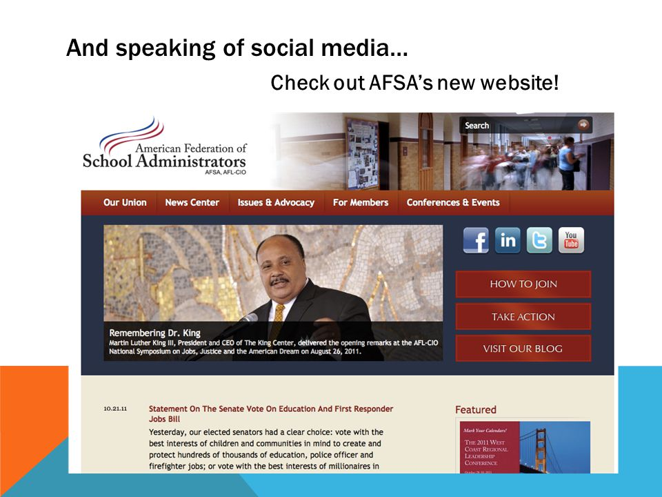 And speaking of social media… Check out AFSA's new website!