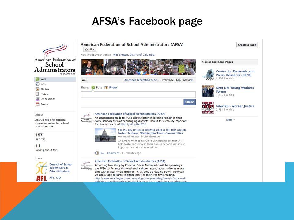 AFSA's Facebook page
