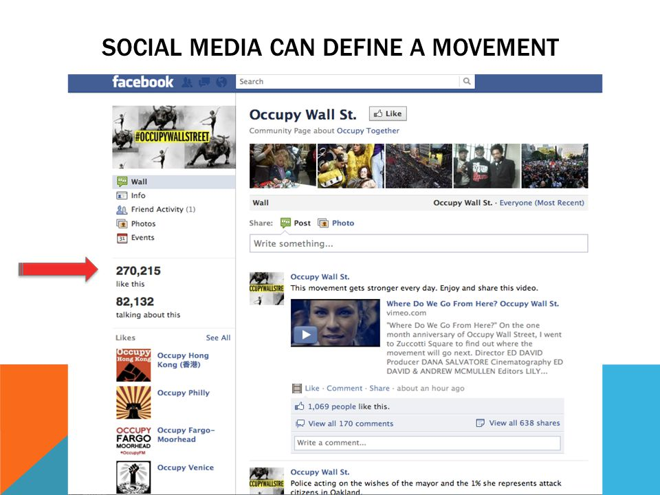 SOCIAL MEDIA CAN DEFINE A MOVEMENT