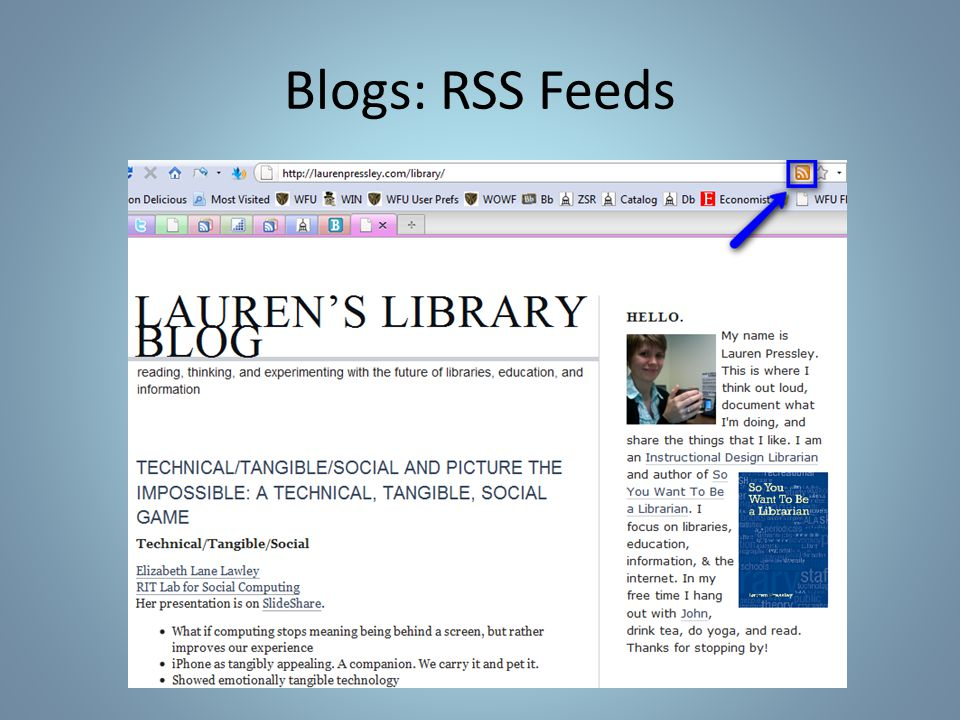 Blogs: RSS Feeds