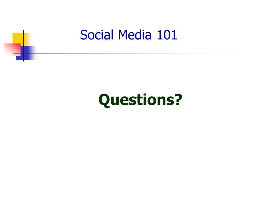 Social Media 101 Questions