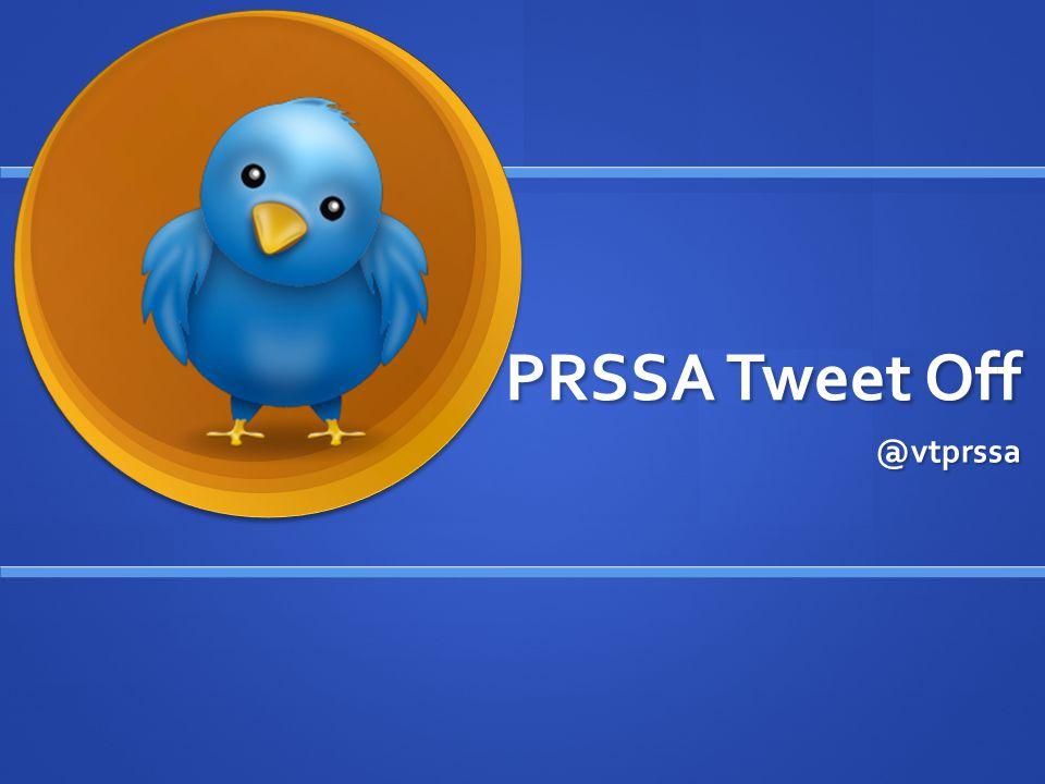 PRSSA Tweet Off @vtprssa