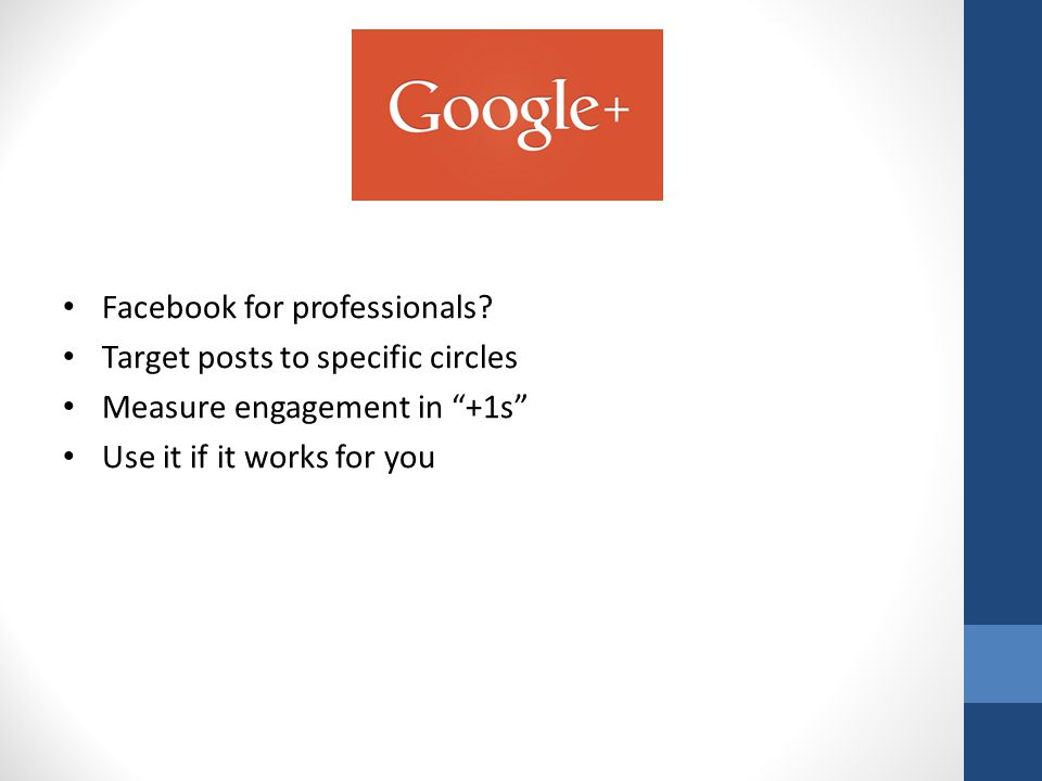 Facebook for professionals.