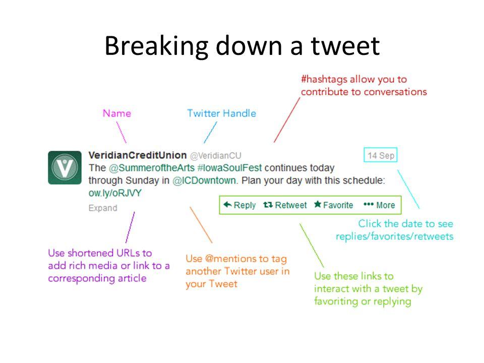 Breaking down a tweet