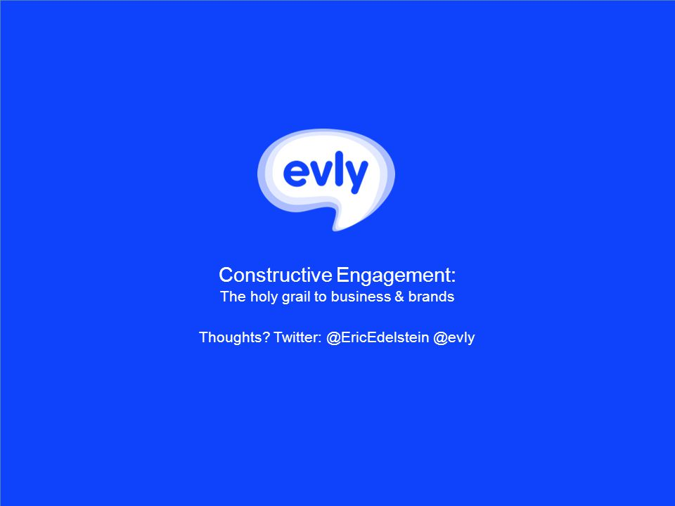Constructive Engagement: The holy grail to business & brands Thoughts.