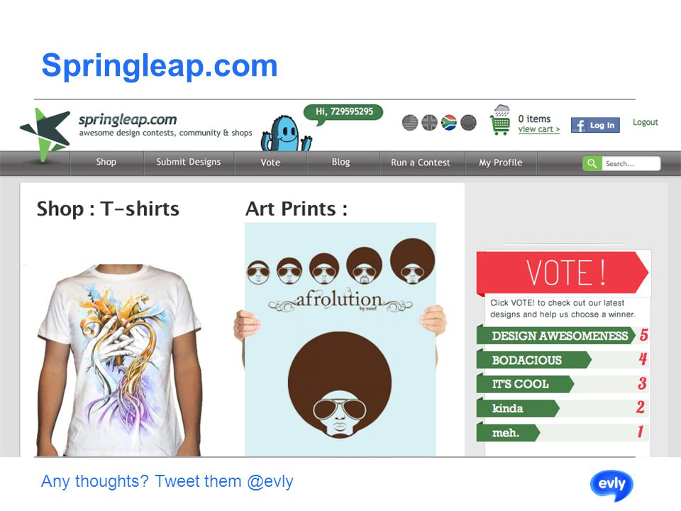 Springleap.com Any thoughts Tweet them @evly