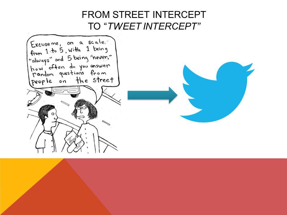 FROM STREET INTERCEPT TO TWEET INTERCEPT