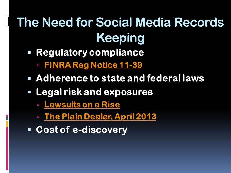 Industry Guidance and Real World Examples  Compliance in Financial Services  LPL Financial LPL Financial  Facebook PostPost  Public Records Management in Government  Texas Texas  Public Companies and Other Regulated Industries  HIPAA HIPAA