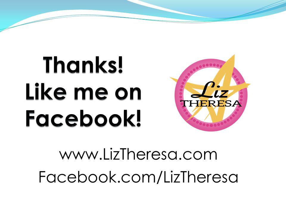www.LizTheresa.com Facebook.com/LizTheresa