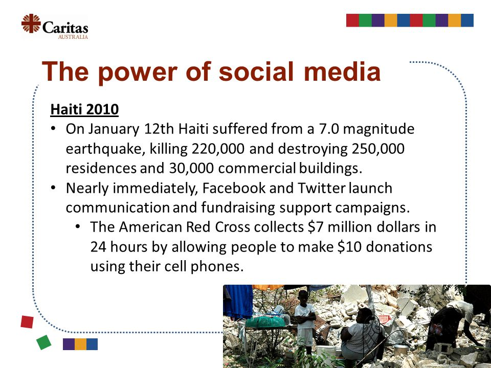 Haiti 2010 On January 12th Haiti suffered from a 7.0 magnitude earthquake, killing 220,000 and destroying 250,000 residences and 30,000 commercial buildings.