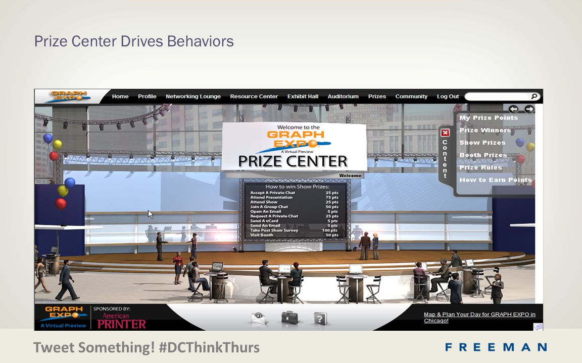 Tweet Something! #DCThinkThurs Prize Center Drives Behaviors