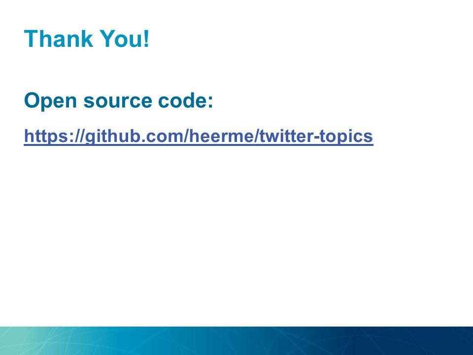 Thank You! Open source code: https://github.com/heerme/twitter-topics