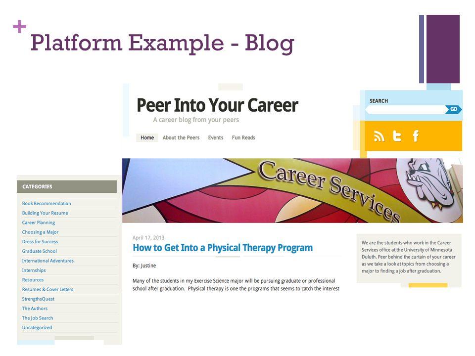 + Platform Example - Blog