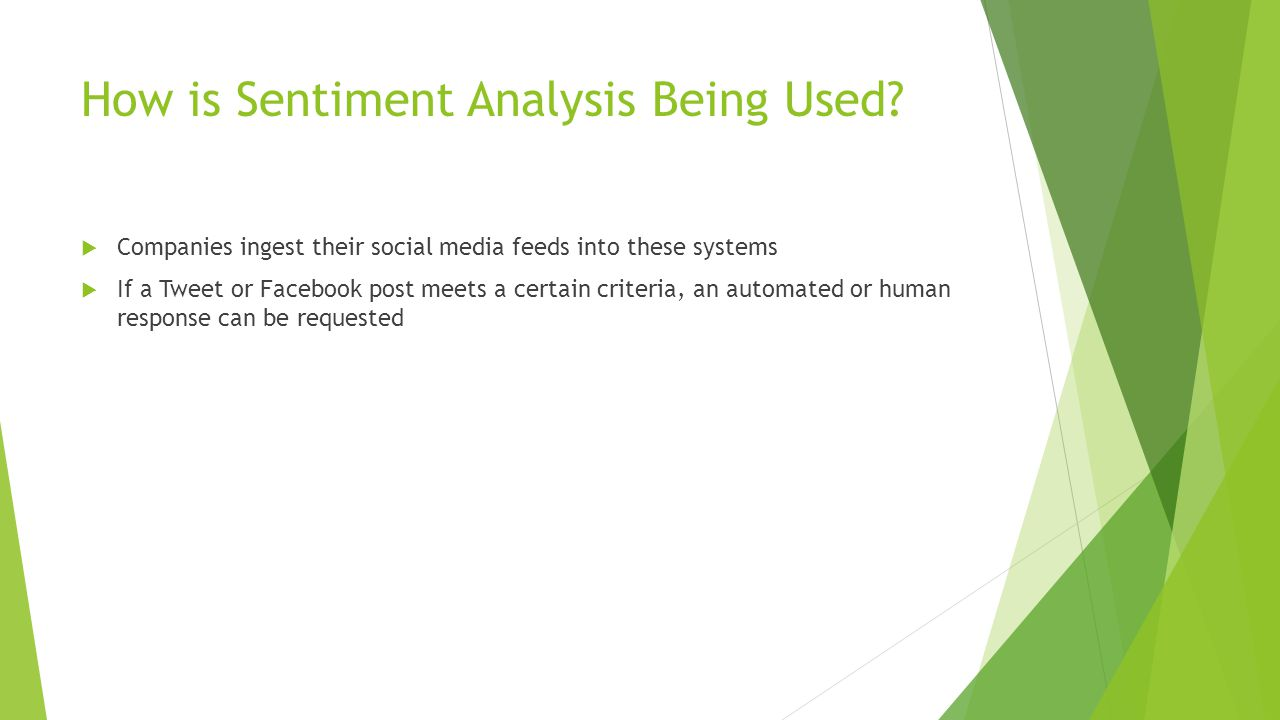 How is Sentiment Analysis Being Used.