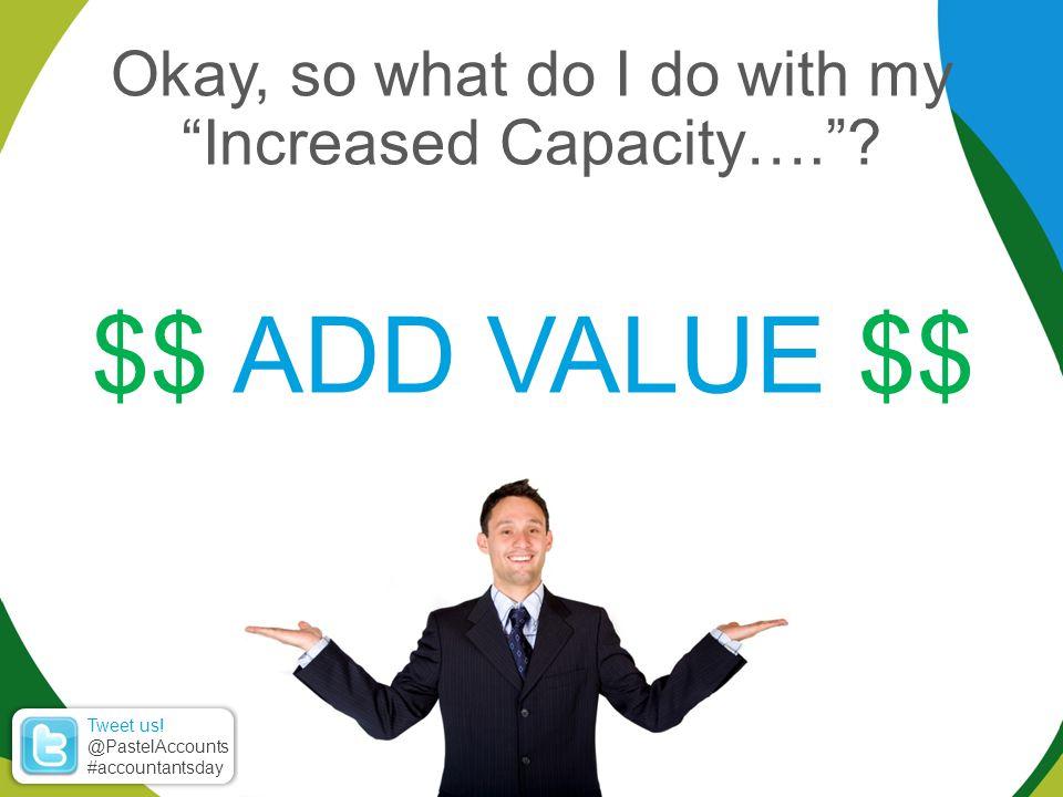 Okay, so what do I do with my Increased Capacity…. .