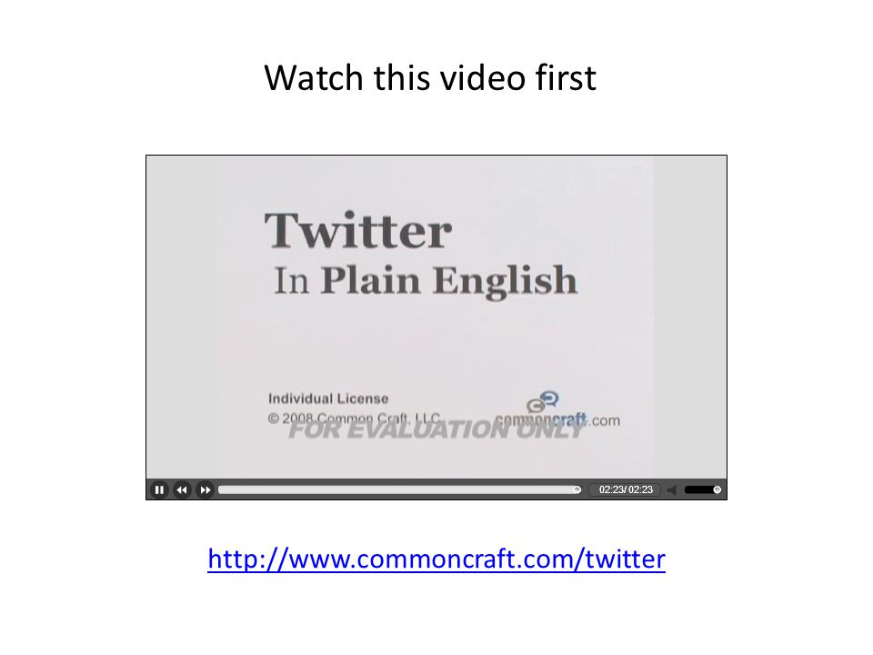 http://www.commoncraft.com/twitter Watch this video first