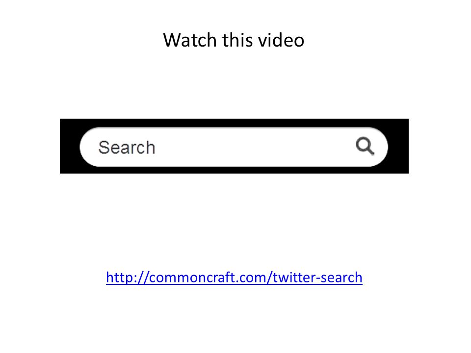 Watch this video http://commoncraft.com/twitter-search