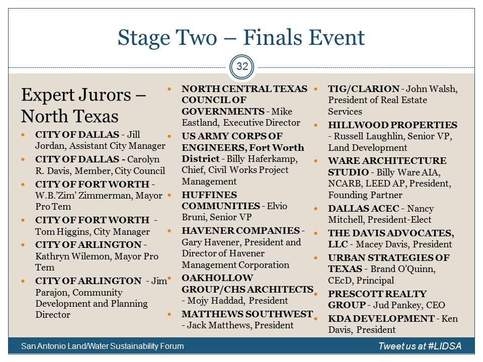 Expert Jurors – North Texas CITY OF DALLAS - Jill Jordan, Assistant City Manager CITY OF DALLAS - Carolyn R.