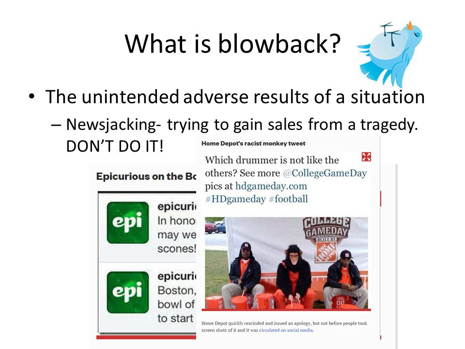 What is blowback.