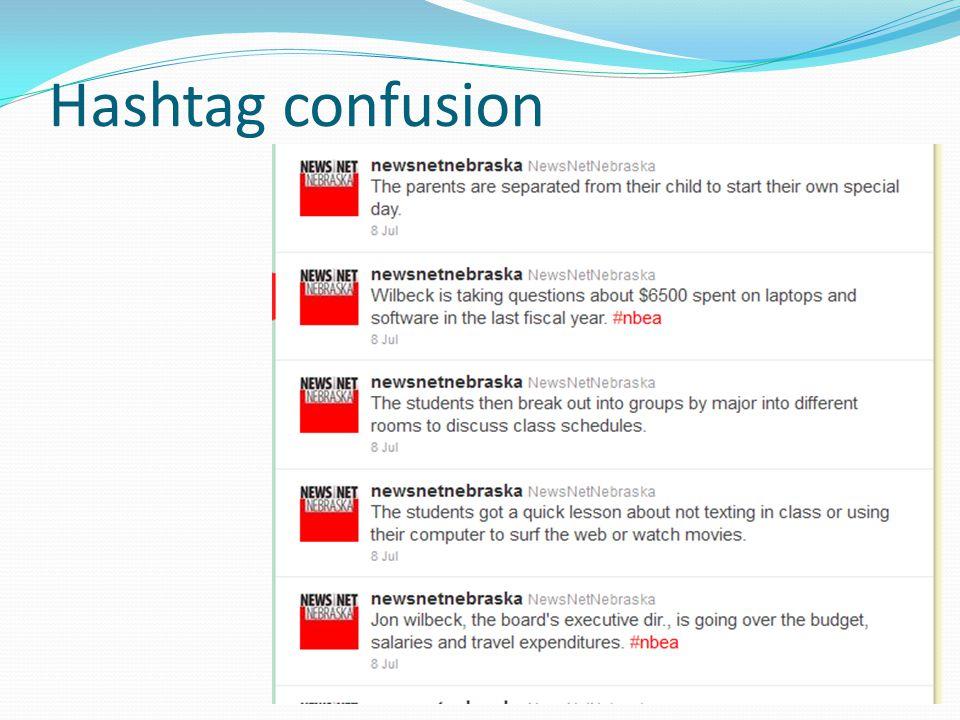 Hashtag confusion