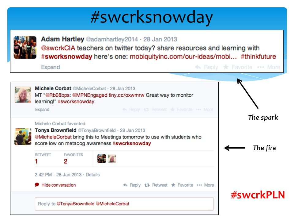 #swcrkPLN The spark The fire #swcrksnowday