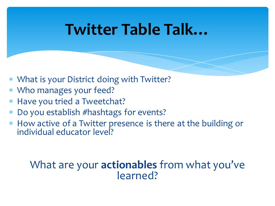  What is your District doing with Twitter.  Who manages your feed.