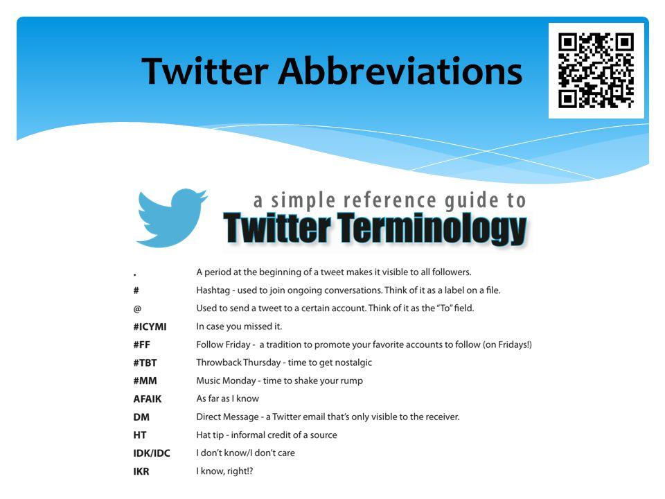 Twitter Abbreviations