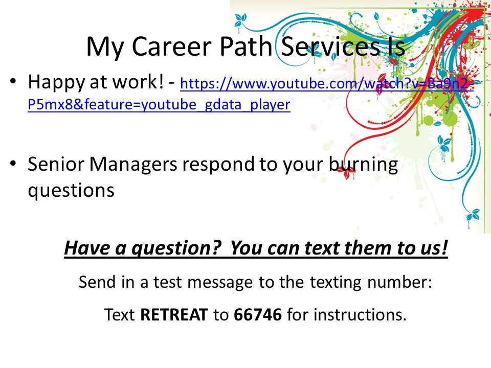 My Career Path Services Is Happy at work.